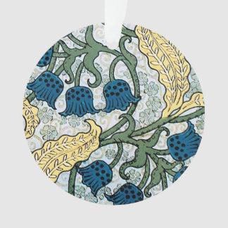 Ornamento Lírio azul do teste padrão do vale