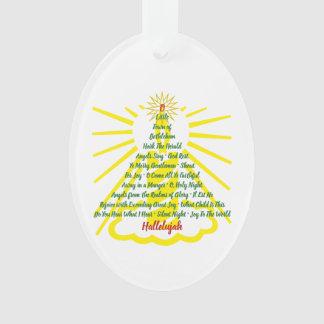 Ornamento Lista da canção da luz de vela