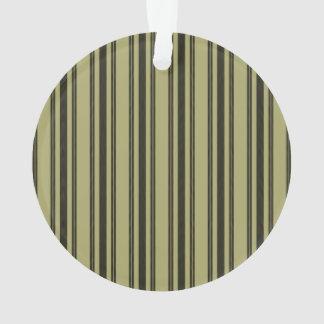 Ornamento Listra dobro preta de tiquetaque do colchão Khaki