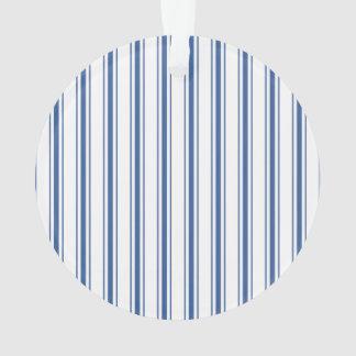 Ornamento Listra estreita de tiquetaque do colchão azul