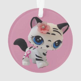 Ornamento listrado do gatinho do tigre