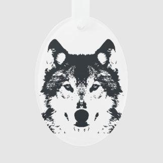 Ornamento Lobo preto da ilustração