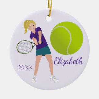 Ornamento louro da lembrança do jogador de ténis