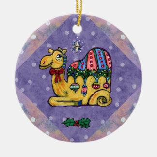 Ornamento lunático da árvore do camelo do Natal