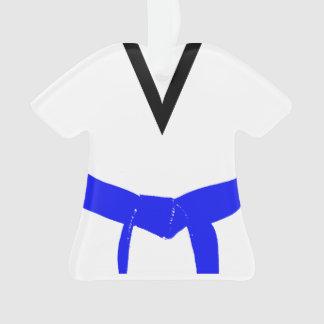 Ornamento Luz das artes marciais - uniforme azul da correia