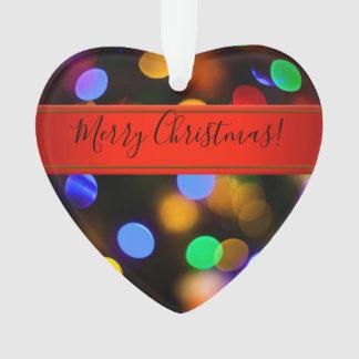 Ornamento Luzes de Natal coloridos. Adicione o texto ou