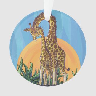 Ornamento Mama e bebê do girafa