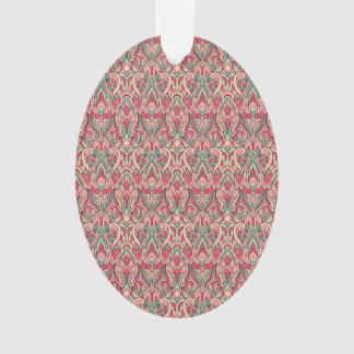 Ornamento Mão abstrata teste padrão tirado. Cor cor-de-rosa