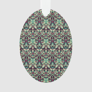 Ornamento Mão abstrata teste padrão tirado. Cores verdes