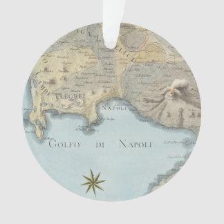 Ornamento Mapa do golfo de Nápoles e de arredores
