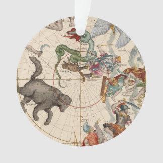 Ornamento Mapa do vintage do Pólo Norte