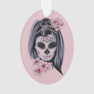 Ornamento Máscara do esqueleto da mulher