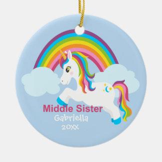 Ornamento médio da irmã do arco-íris brilhante do