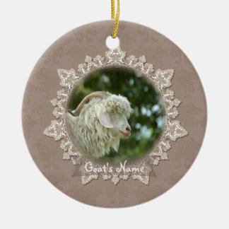 Ornamento memorável do laço do vintage da cabra do