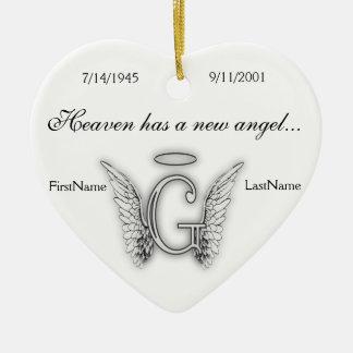 Ornamento memorável G do tributo do monograma