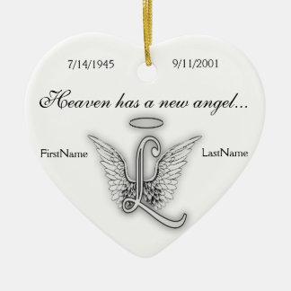 Ornamento memorável L do tributo do monograma