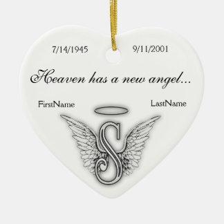 Ornamento memorável S do tributo do monograma