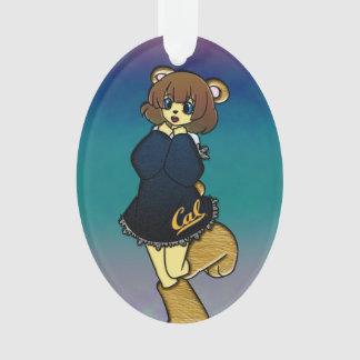 Ornamento Menina bonito do urso do Cal