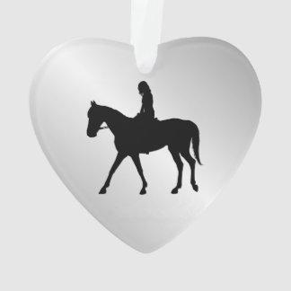 Ornamento Menina na boa vinda do cavalo