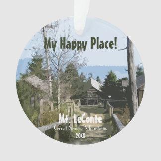 Ornamento Meu lugar feliz! Mt. LeConte - modelo fumarento de