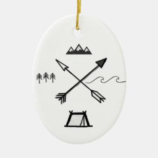 Ornamento minimalista do símbolo da região