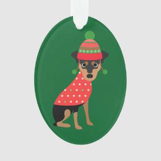 Ornamento mínimo bonito do cão do Pin do Xmas