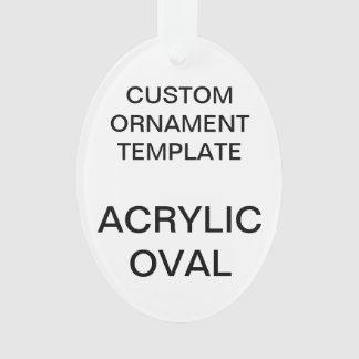 Ornamento Modelo OVAL acrílico feito sob encomenda dos