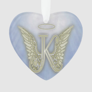 Ornamento Monograma do anjo da letra K