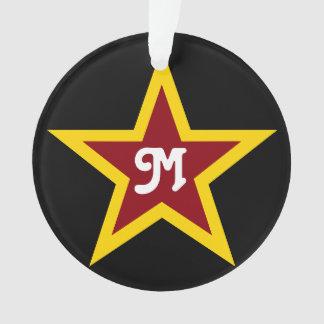 Ornamento Monograma feito sob encomenda simples da estrela