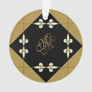 Ornamento Monograma festivo de Nouveau da arte do vintage do