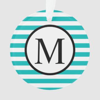 Ornamento Monograma simples com as listras horizontais do
