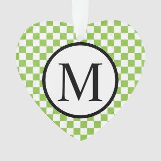Ornamento Monograma simples com o tabuleiro de damas do