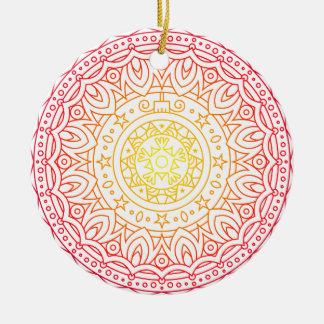 Ornamento morno colorido do círculo da mandala das