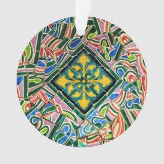 Ornamento Mosaicos de Guell do parque