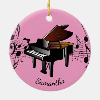 Ornamento musical do design do piano de cauda do