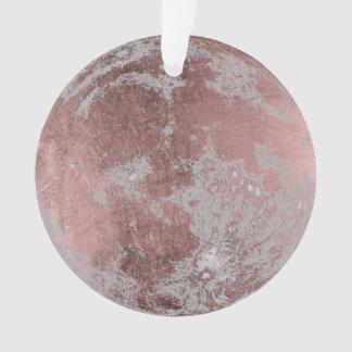 Ornamento Natal cor-de-rosa da Lua cheia do ouro