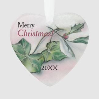 Ornamento Natal da hera e do azevinho