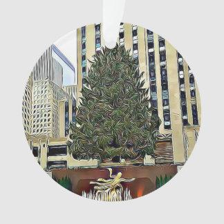 Ornamento Natal da pista de patinagem da árvore de NYC