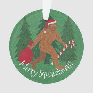 Ornamento Natal de Squatch do papai noel com seus nome e ano