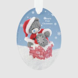 Ornamento Natal do bebê o ø, urso de ursinho do papai noel