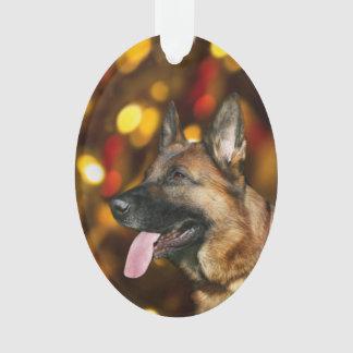 Ornamento Natal do german shepherd