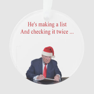 Ornamento Natal do trunfo: Está fazendo uma lista