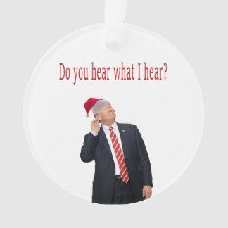 Ornamento Natal do trunfo: Você ouve-se o que eu me ouço?
