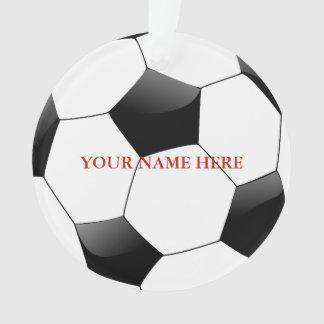 Ornamento Natal personalizado do nome da bola de futebol