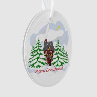Ornamento Natal que vem à casa da família