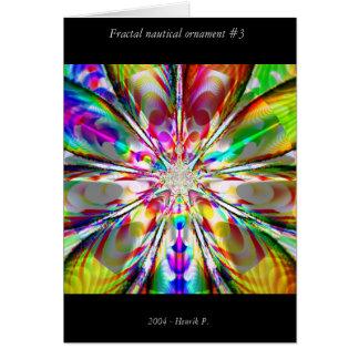 Ornamento náutico #3 do Fractal Cartão Comemorativo