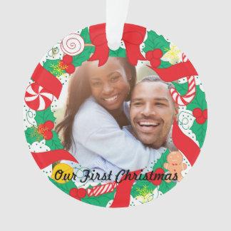 Ornamento Nossa primeira foto feita sob encomenda do Natal |