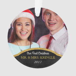 Ornamento Nossos primeiros Sr. do Natal e Sra. Foto