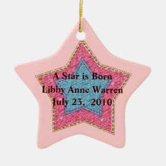 Ornamento novo da estrela do bebê