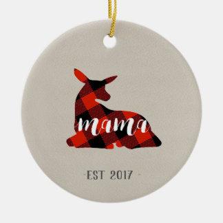 Ornamento novo do presente do Natal da mãe